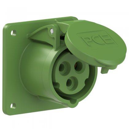 313-2f7 PCE Розетка встраиваемая 16А/50-500V/1P+N+E/IP44
