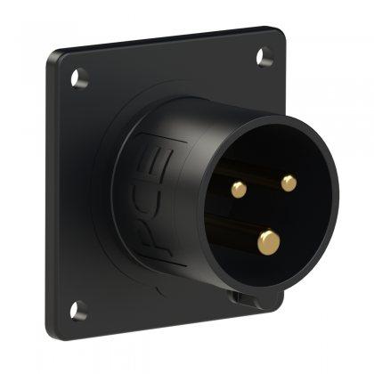 613-6x PCE Вилка встраиваемая 16А/230V/1P+N+E/IP44, черная