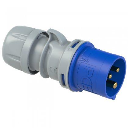 023-6tt PCE Вилка кабельная 32А/230V/1P+N+E/IP44, безвинтовое подключение