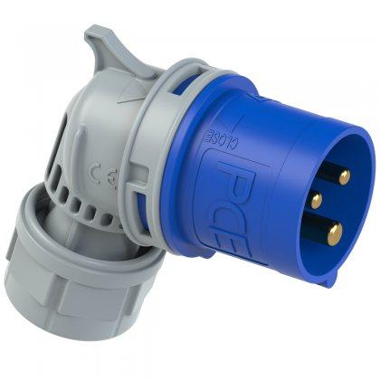 8013-6tt PCE Вилка кабельная угловая 16А/230V/1P+N+E/IP44, безвинтовое подключение