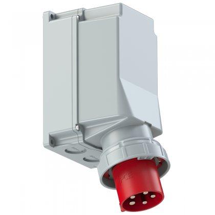 545-6 PCE Вилка настенная 125А/400V/3P+N+E/IP67