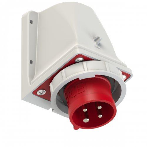 5142-6kv Вилка настенная 16A/400V/3P+E/IP67 никелированные контакты