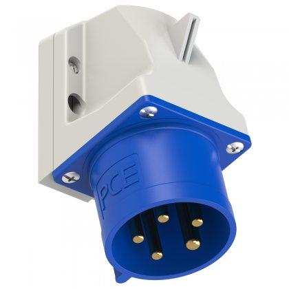 525-9 PCE Вилка настенная 32А/400V/3P+N+E/IP44