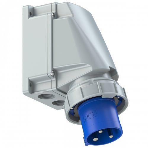 533-6 PCE Вилка настенная 63А/230V/1P+N+E/IP67