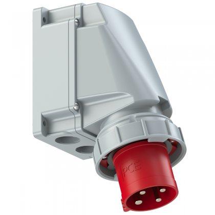 534-6 PCE Вилка настенная 63А/400V/3P+E/IP67