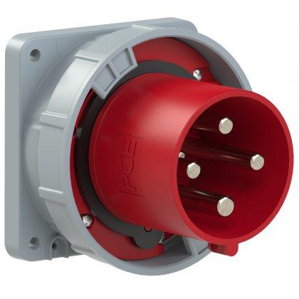 644-6 PCE Вилка встраиваемая 125А/400V/3P+E/IP67, фланец 120x120