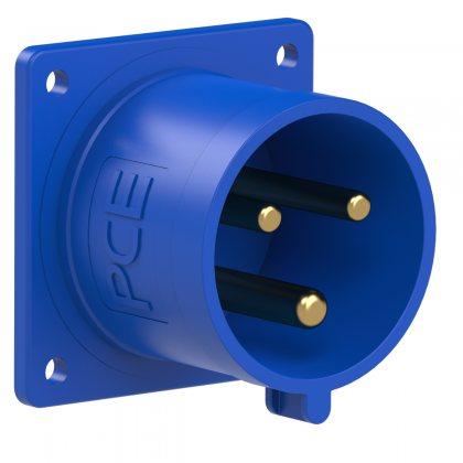 623-6 PCE Вилка встраиваемая 32А/230V/1P+N+E/IP44, фланец 70x70
