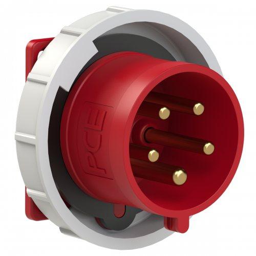 6252-6 PCE Вилка встраиваемая 32А/400V/3P+N+E/IP67, фланец 75x75