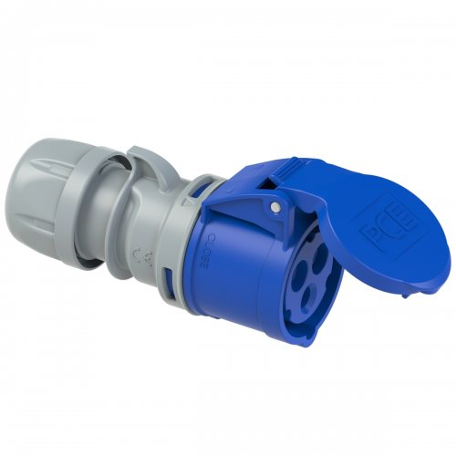 223-6tt PCE Розетка кабельная 32А/230V/1P+N+E/IP44, безвинтовое подключение