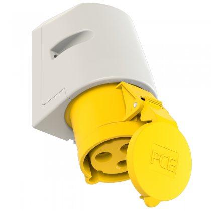 123-4 PCE Розетка настенная 32А/110V/1P+N+E/IP44
