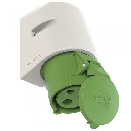 123-10 PCE Розетка настенная 32А/500V/1P+N+E/IP44