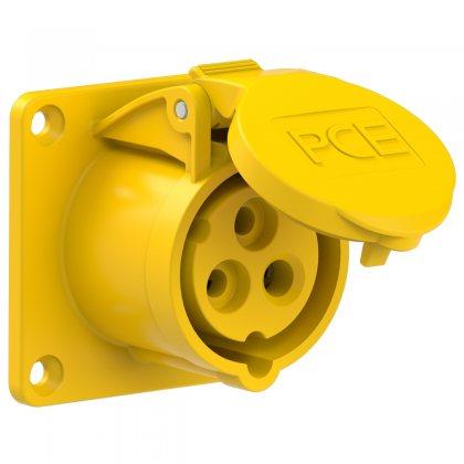 313-4 PCE Розетка встраиваемая 16А/110V/1P+N+E/IP44