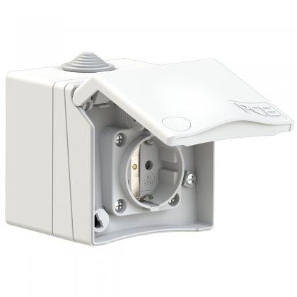 8630v PCE Розетка настенная 16A/250V/2P+E/IP44
