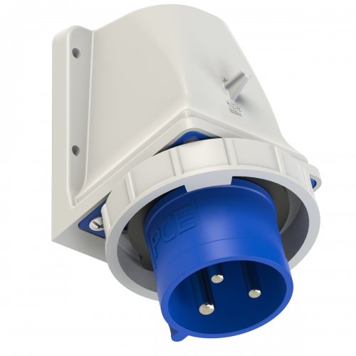 5232-6kv PCE Вилка настенная 32A/230V/1P+N+E/IP67 никелированные контакты