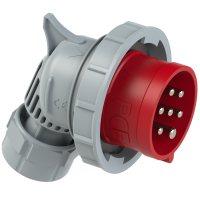80272-6v PCE Вилка кабельная угловая 32А/400V/6P+E/IP67, никелированные контакты