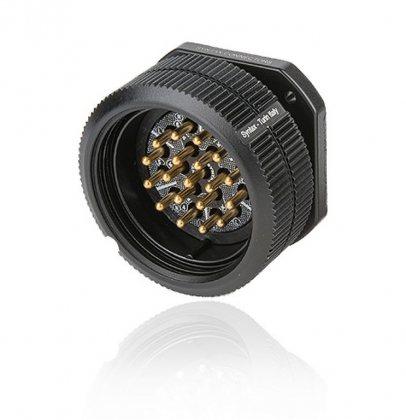 SSX19MPDSST SSX 19 pin вилка панельная, серебрянное покрытие контактов, под пайку, контакты вставлены