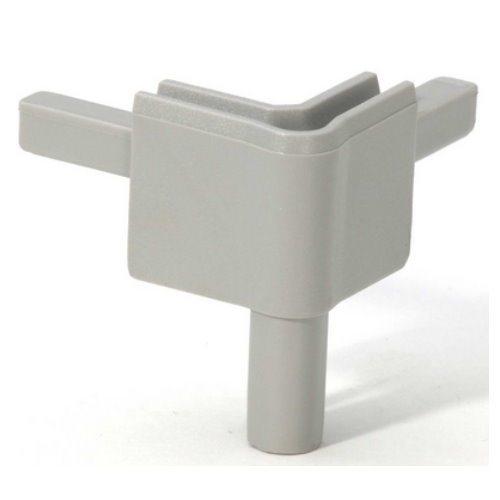 Q4502FAG Adam Hall Уголок пластиковый Easy Case System, цвет серый алюминий