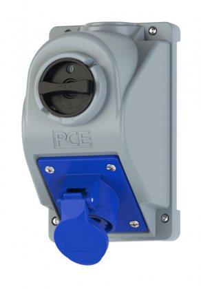 96061350 Розетки настенная с выключателем Combopol 32A/1P+N+E/IP44 0GS