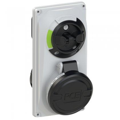 6015-7 Розетка настенная с выкл и блокир  встраиваимая  16А/500V/3P+N+E/IP44/7h