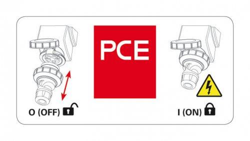 78152-6 PCE Розетка настенная с выключателем и блокировкой 16A/400V/3P+N+E/IP67, с держателем предохранителя (предохранитель не укомплектован)