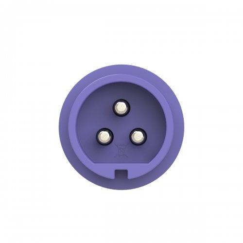 073v PCE Вилка кабельная 32А/24V/2P+E/IP44, никелированные контакты