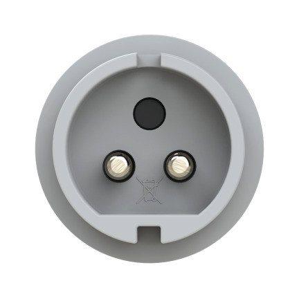 092-12 PCE Вилка кабельная 32А/42V/2Р/IP44 с никелированными контактами