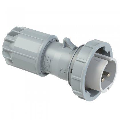 0922-12v PCE Вилка кабельная 32A/42V/2P/IP67, никелированные контакты