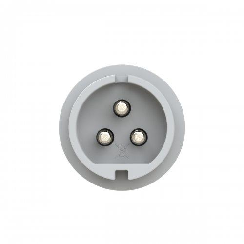093-12v PCE Вилка кабельная 32А/42V/2P+E/IP44, никелированные контакты