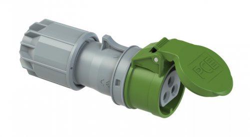 293-4v PCE Розетка кабельная 32А/24-42V/2P+E/IP44, никелированные контакты