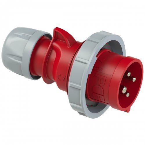 0242-3v PCE Вилка кабельная, контейнерная 32А/440V/3P+E/IP67/3h, никелированные контакты