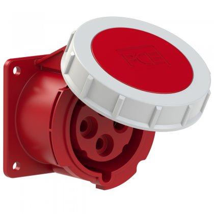 3242-3v PCE Розетка встраиваемая 32А/440V/3P+E/IP67, никелированные контакты