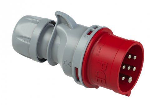 027-6 Вилка кабельная 7-ми контактная 32А/400V/7P/IP44 (не производят)