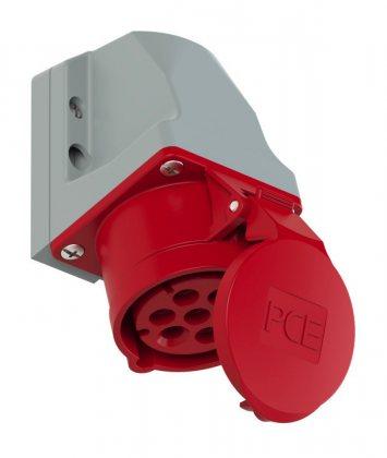 117-6 Розетка настенная 7-ми контактная 16А/400V/7P/IP44 (не производит)