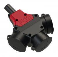 25311-s5 PCE Тройник кабельный 16A/250V/2P+E/IP44 с резиновым корпусом и 5-контактным разъемом