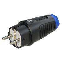 0511-sb PCE Вилка кабельная 16A/250V/2P+E/IP54 корпус черный, маркер синий