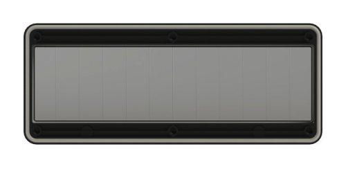 900612s-p PCE Защитное окно на 12 модулей. черное  IP67