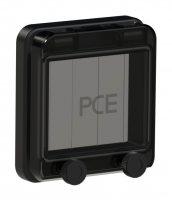 900604s-p PCE Защитное окно на 4 модуля IP67, черное