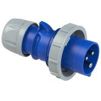 0232-6v PCE Вилка кабельная 32А/230V/1P+N+E/IP67, никелированные контакты