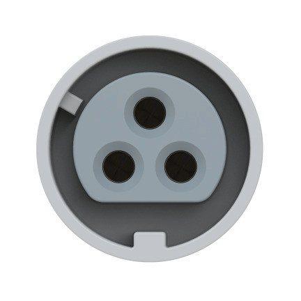 3832-10f87v PCE Розетка встраиваемая 16A/24-42V/2P+E/IP67, фланец 75x85, никелированные контакты