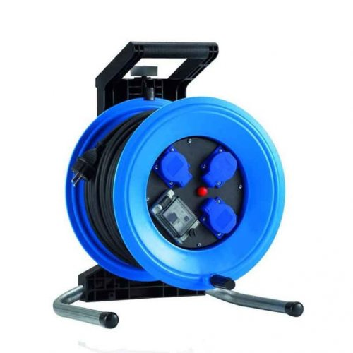K350QTFI HEDI Удлинитель на катушке из пластика D=320мм/3GS/IP44/50м H07BQ-F3G1,5/УЗО/термозащита