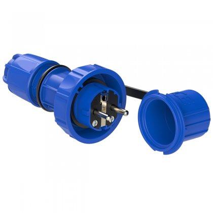 20051-b PCE Вилка кабельная 16А/250V/2P+E/IP68 NAUTILUS