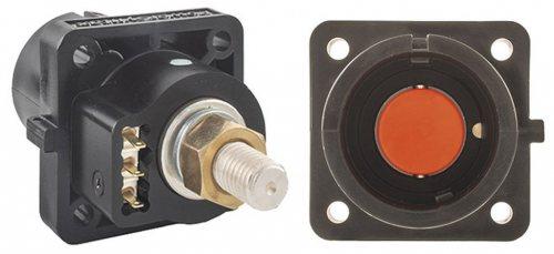 SPX4PS2BK-CP SPХ 400А розетка панельная L2, черная с пилотным контактом