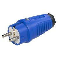 0521-bs PCE Вилка кабельная 16А/250V/2P+E/IP54 корпус синий, маркер черный (заказная не менее 500шт)