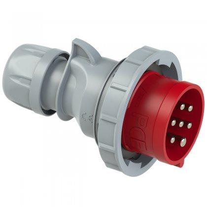 0172-6v Вилка кабельная 16A/400V/6P+E/IP67, никелированные контакты