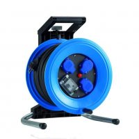 K350NTFI HEDI Удлинитель на катушке из пластика D=320мм/3GS/IP44/50м H07RN-F3G1,5/УЗО/термозащита