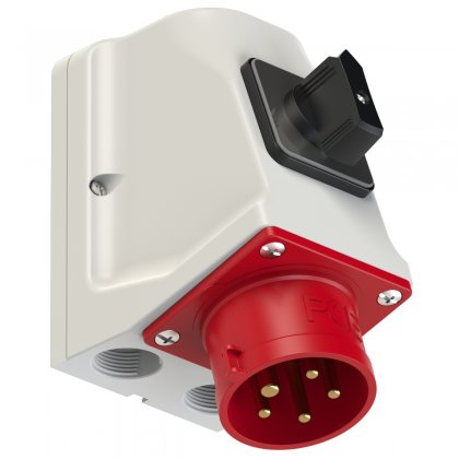 75615-6 PCE Вилка настенная 16А/400V/3P+N+E/IP44 с выключателем