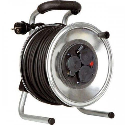 K1S25GTF HEDI Удлинитель на катушке из металла D=255мм/3GS/IP44/25м H05RR-F3G1,5/термозащита