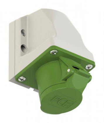 183-3v PCE Розетка настенная 16А/24-42V/2P+E/IP44, никелированные контакты