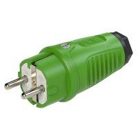 0511-us PCE Вилка кабельная 16A/250V/2P+E/IP54 корпус зеленый, маркер черный
