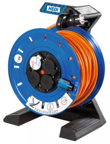 K750QTF HEDI Удлинитель на катушке из пластика D=290мм/4GS/IP54/50м H07BQ-F3G1,5/термозащита